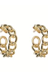 Big Chain Hoops (Gold)