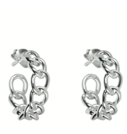 Big Chain Hoops (Silver)