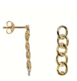 Big Chain Stud (Gold)