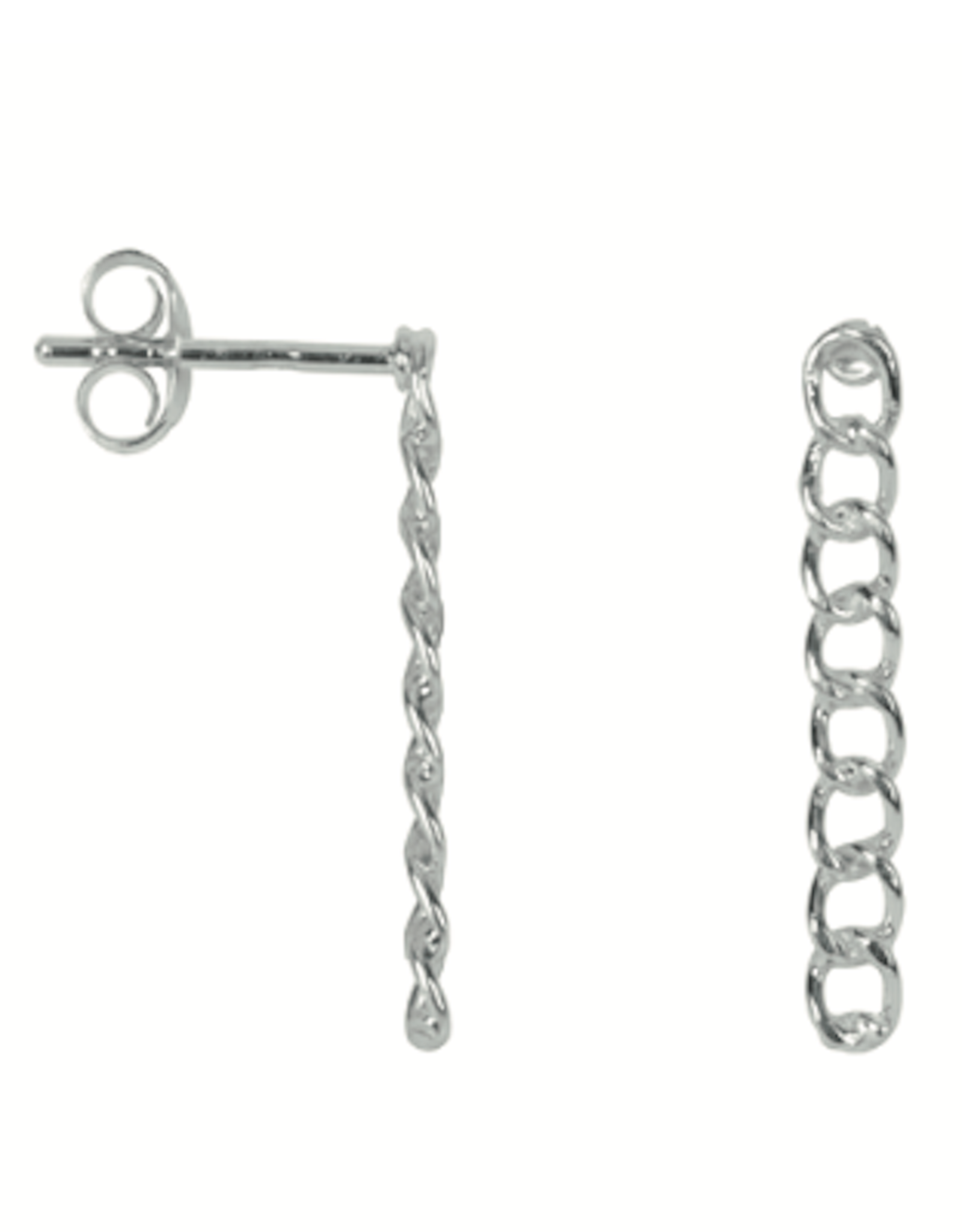 Medium Chain Stud (Silver)