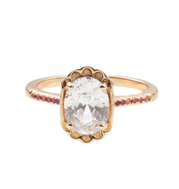 Ovals Clear Pink Ring