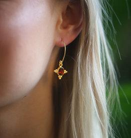 Pushkar Earring Garnet