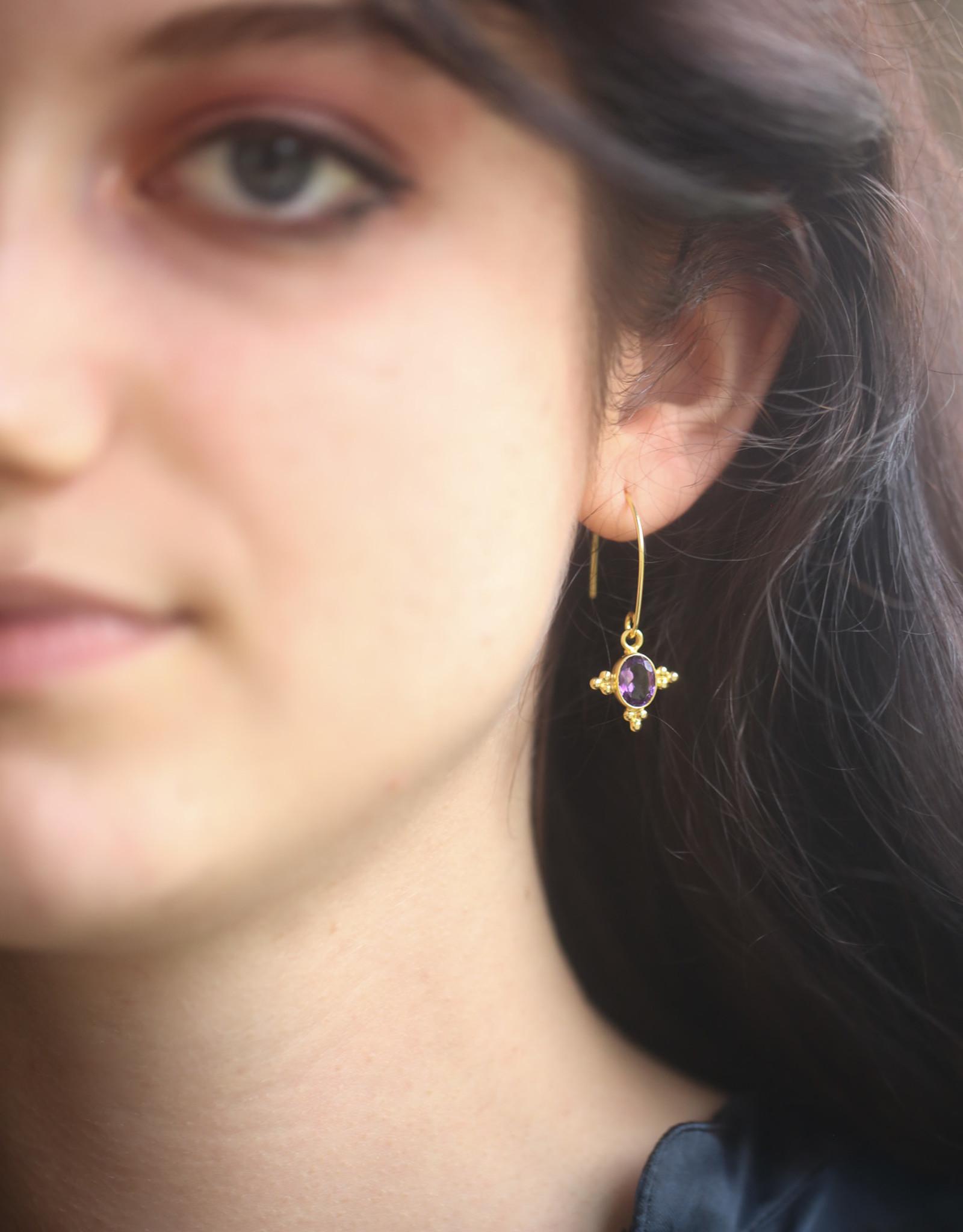 Pushkar Earring Amethyst