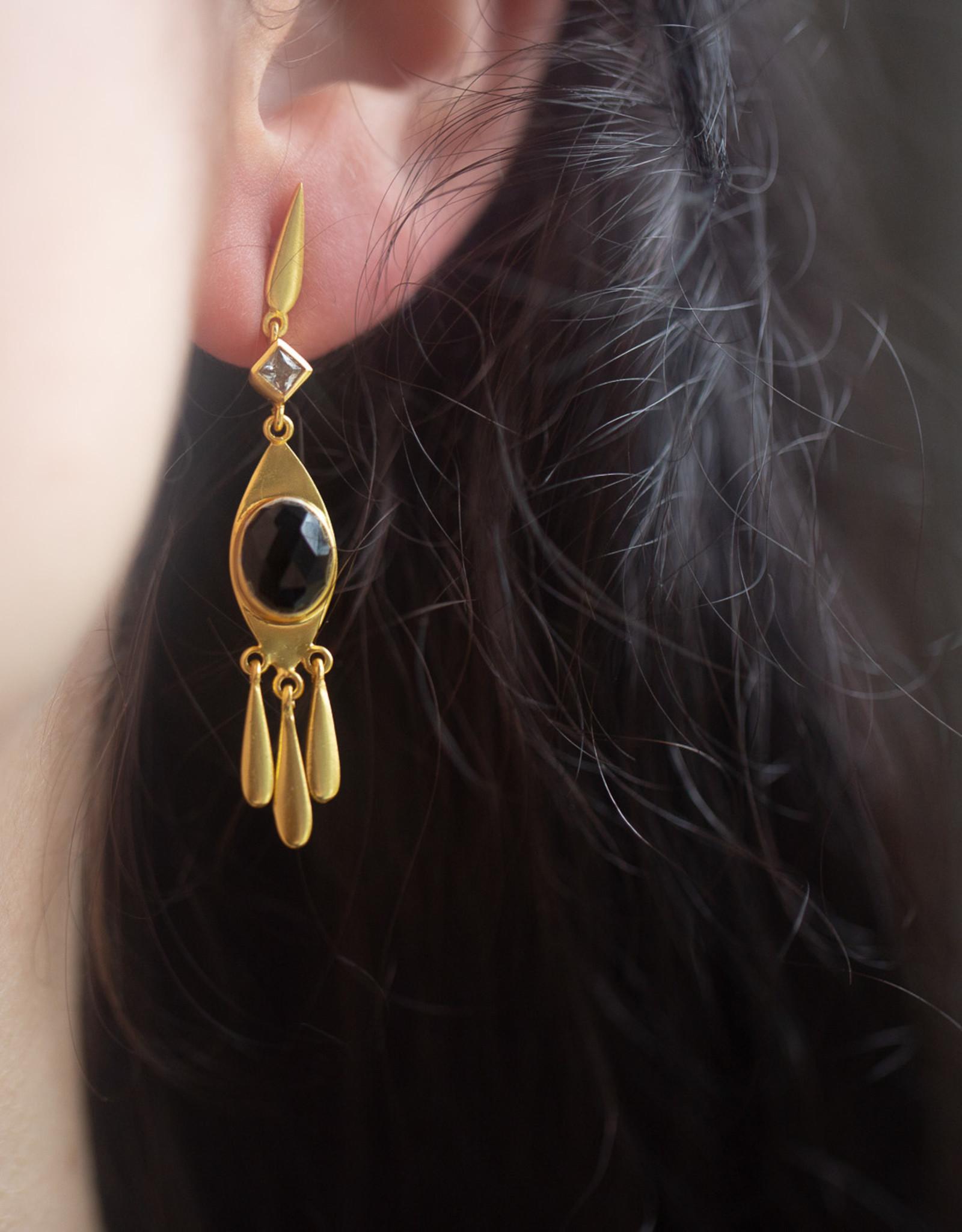 Goa Trip Earring Onyx