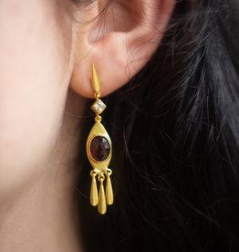 Goa Trip Earring Amethyst