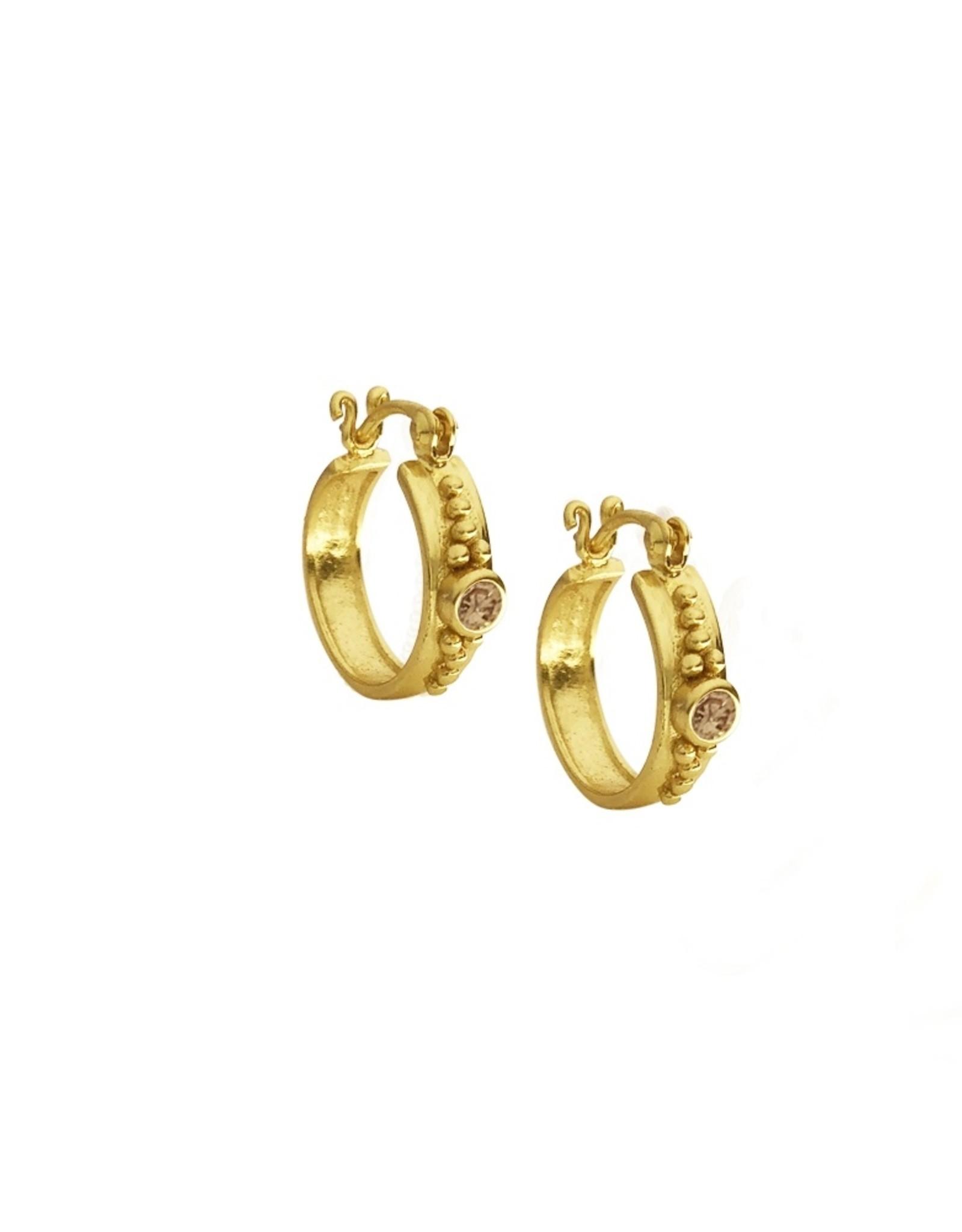 Zirkonia stone champagne gold