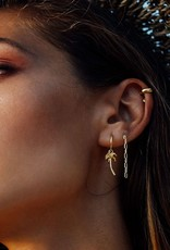 Palm tree Earring Gold