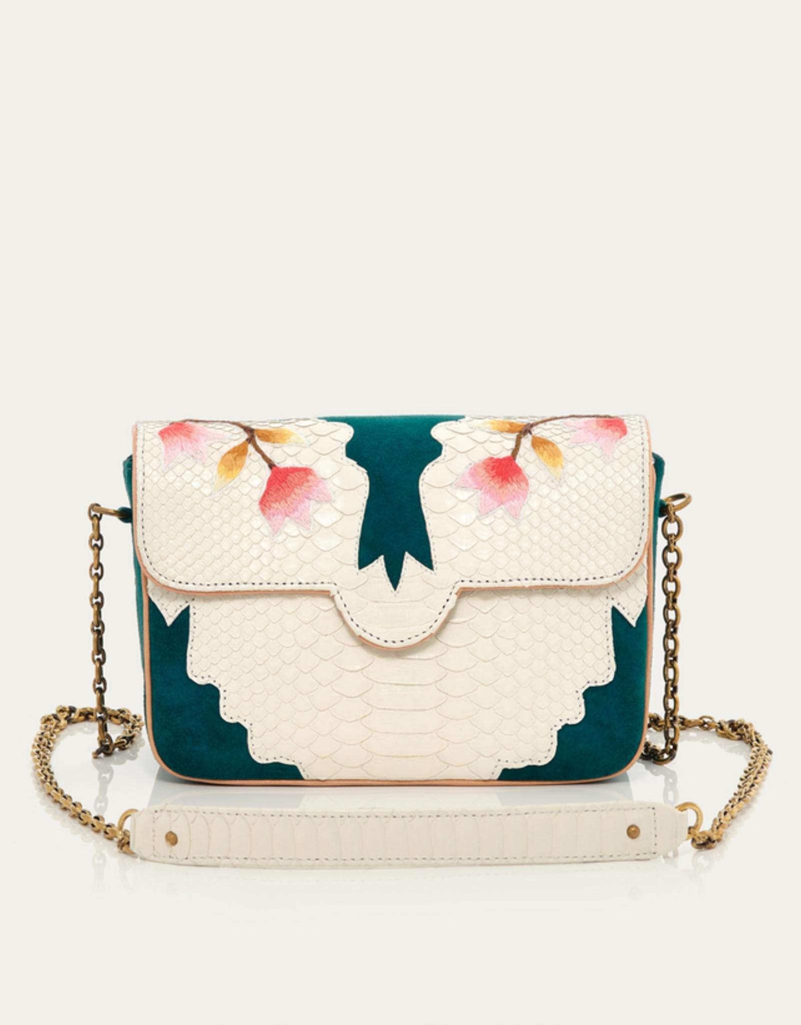 Green White Python Bag Ava Medium