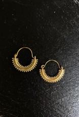 Boho brass hoops - vintage style
