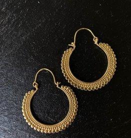 Boho brass hoops