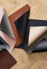 Bitz Placemats Leatherlook L46cmxB33cm Zwart/Grijs 4 stuks