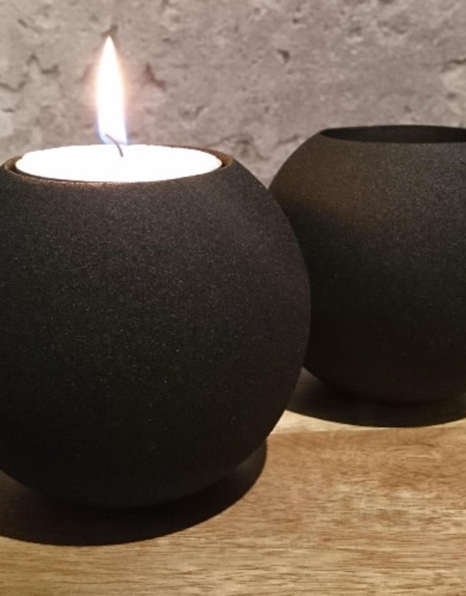 Iron T-Light Black Textured