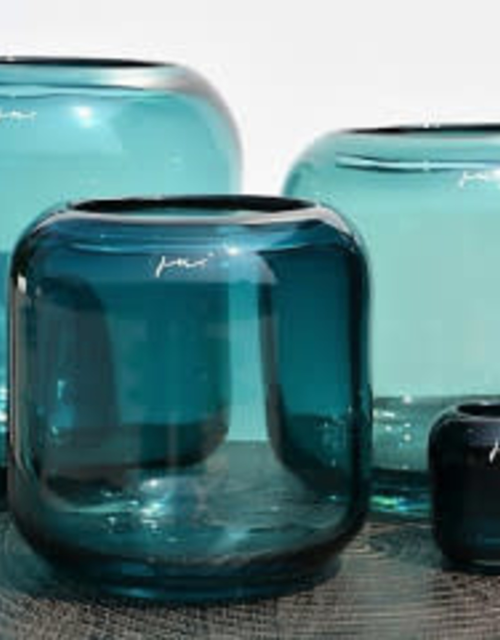 Vase Corina Hurricane S (18x18cm) Aqua