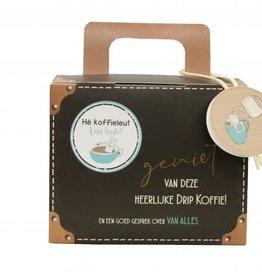 Koffiekoffertje Koffiekoffertje Hé Koffieleut van Harte !