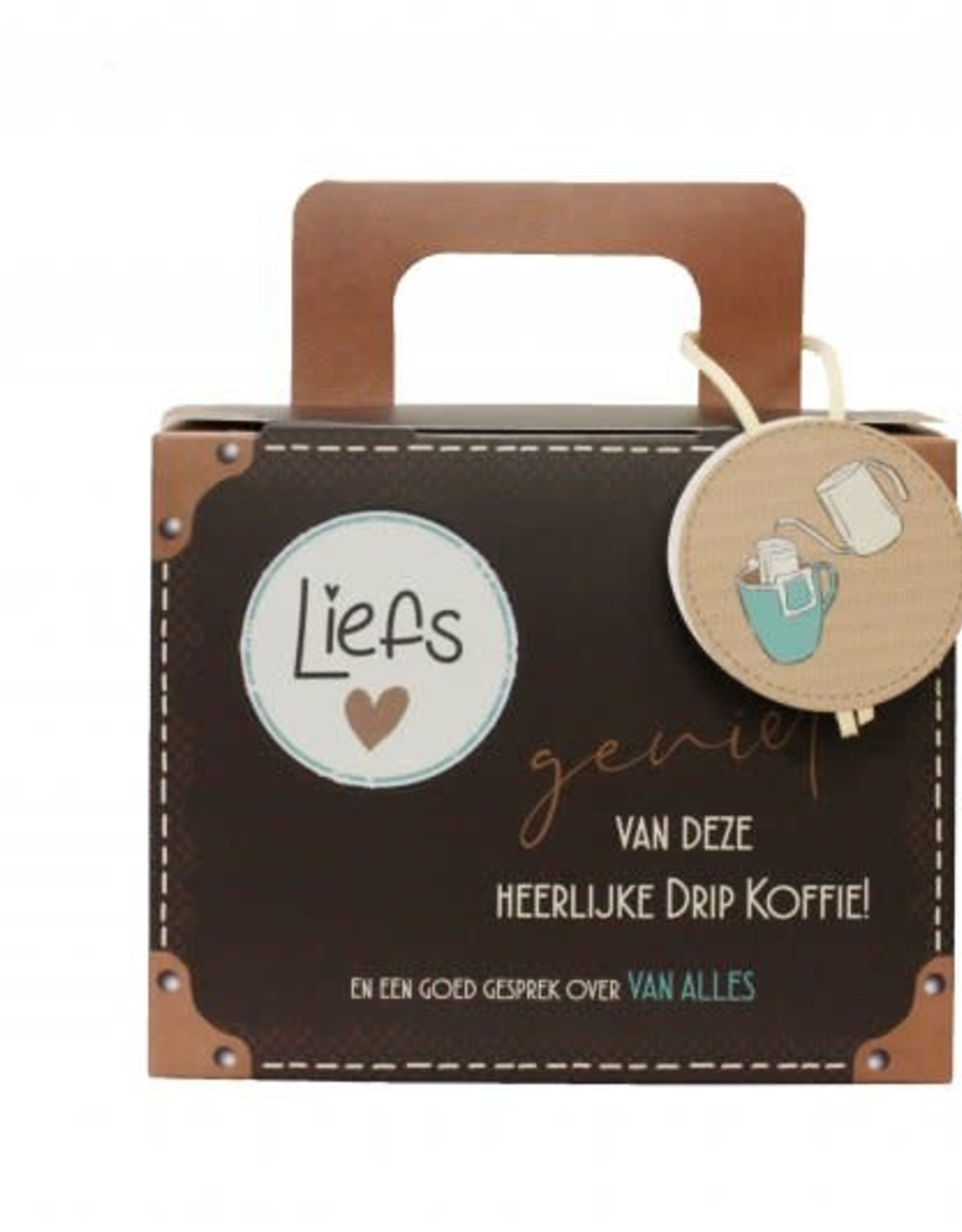 Koffiekoffertje Koffiekoffertje Liefs !