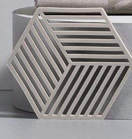 Pottenonderzetter Hexagon Grey  b 14 x d 16 cm