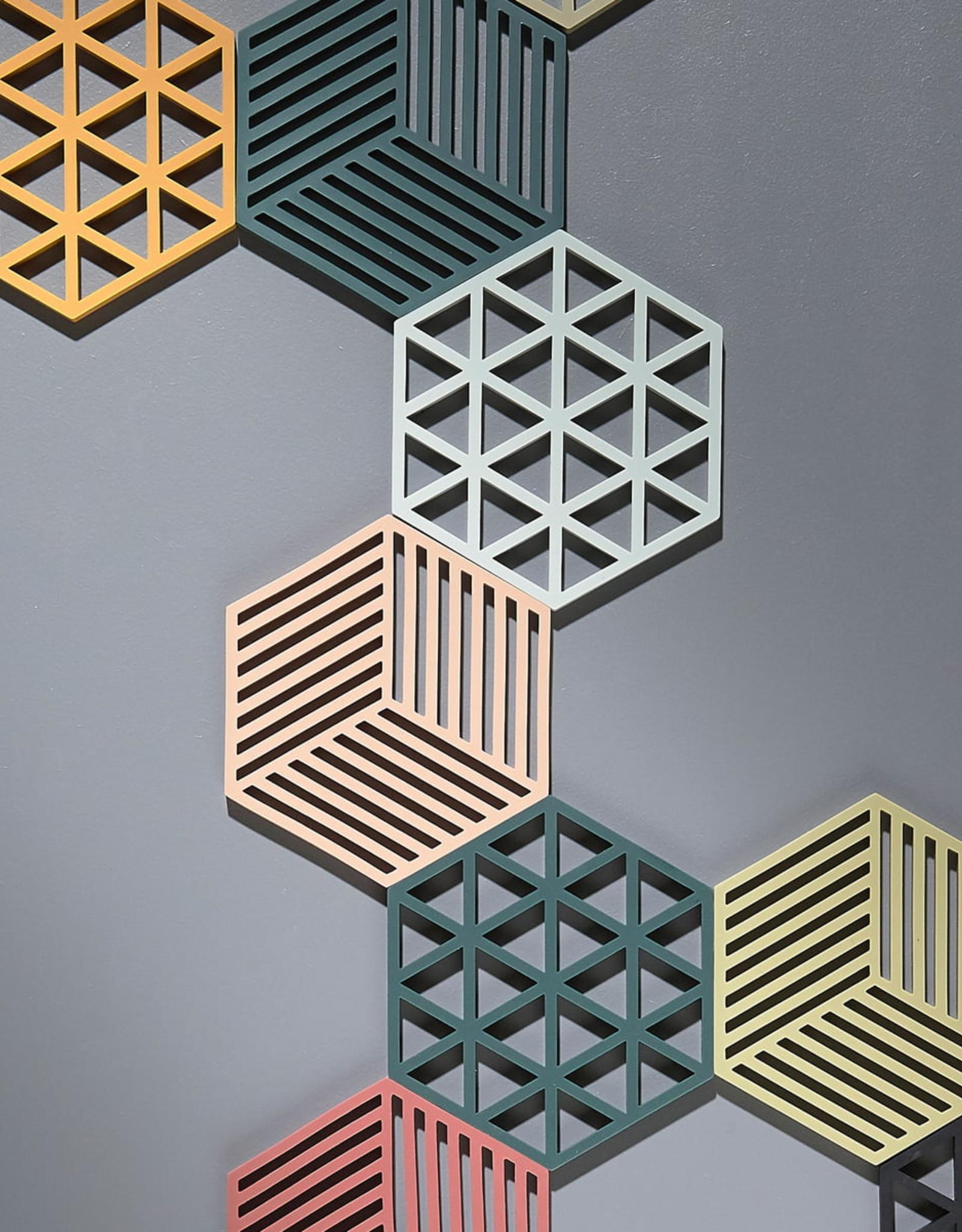 Pottenonderzetter Hexagon Grey