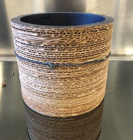 Pot Corrugated Natural Black 13cm