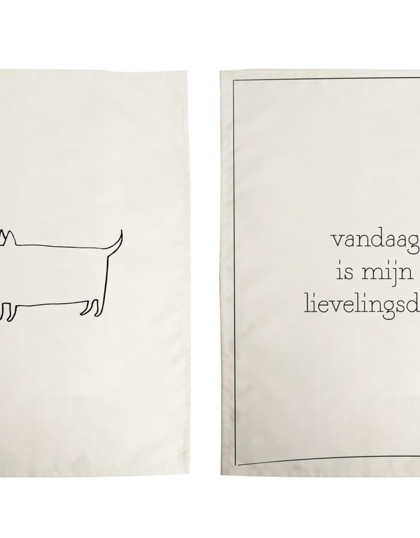 Theedoeken Lievelingsdag/Hond set 2