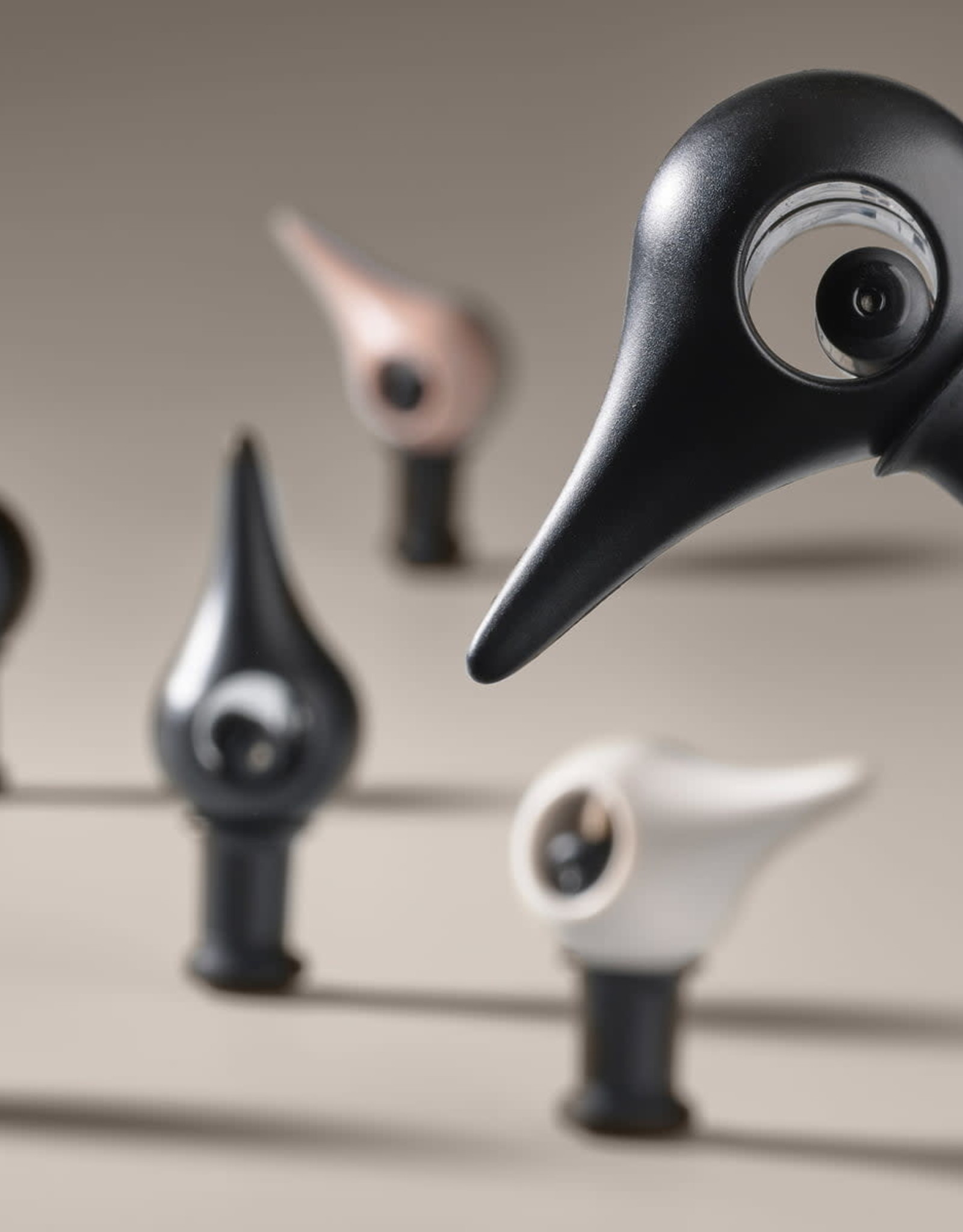 Flessenstop BIRD Black