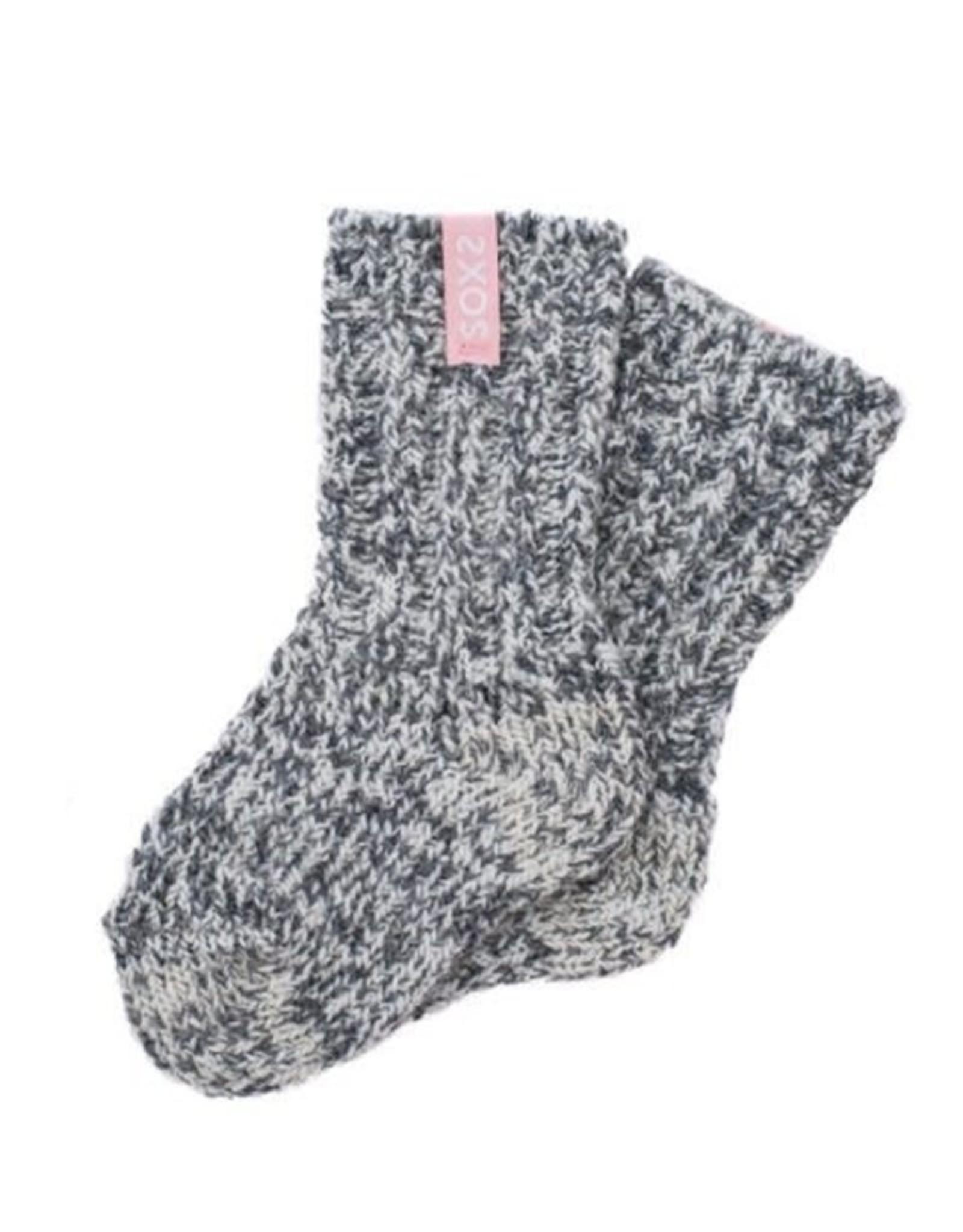 sox Sokken Baby Pink , Grey Tube- anti slip Maat 19-28