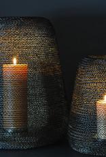 Rasteli Windlicht Lace Wire Black&Gold 31x36cm