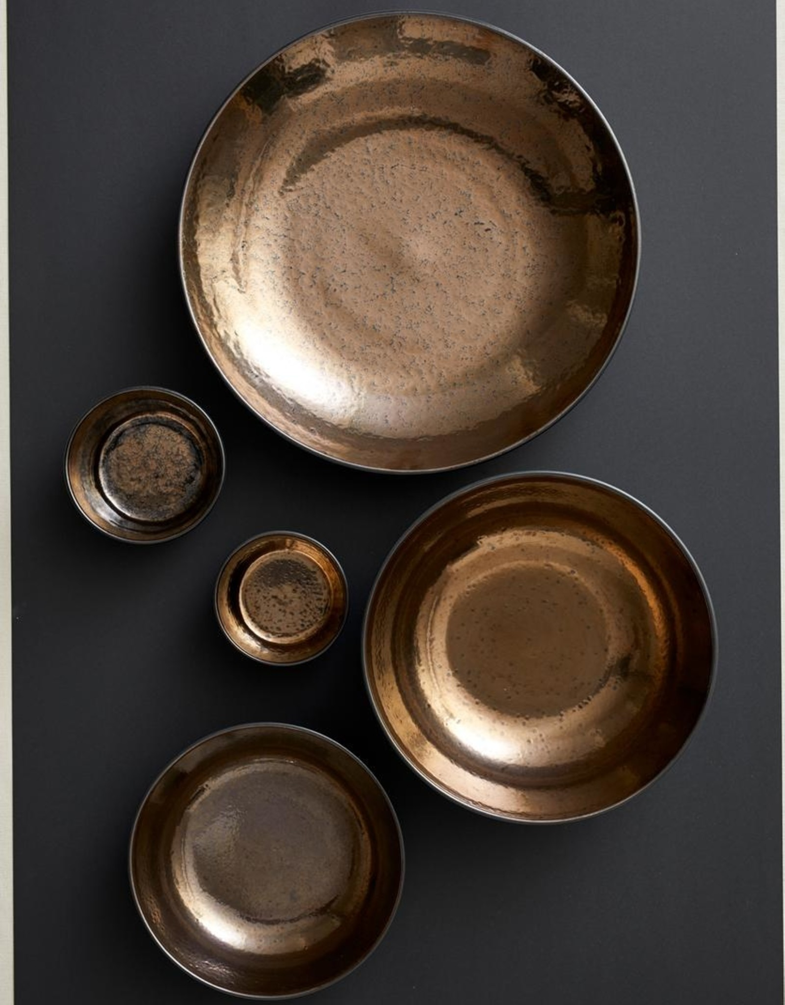Bitz Salad Bowl 40cmx8cm Black/Bronze