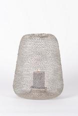 Rasteli Windlicht Lace Wire Nickel 31x36cm