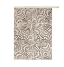 Theedoek Grafisch patroon Zand 70x50cm