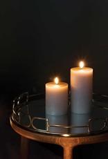 Piffany Pillar Candle LED 7,8x15cm Sandstone