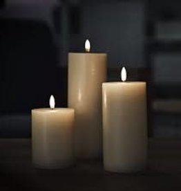 Piffany Pillar Candle LED 7,8x10cm Sandstone