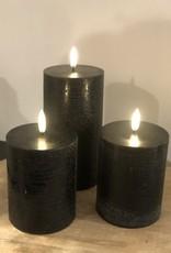 Piffany Pillar Candle LED 7,8x15cm Black