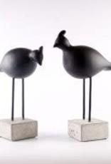 Birds Set Couple Sanstone Black H27cm-H31cm