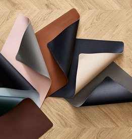 Bitz Placemats Leatherlook Zwart/créme