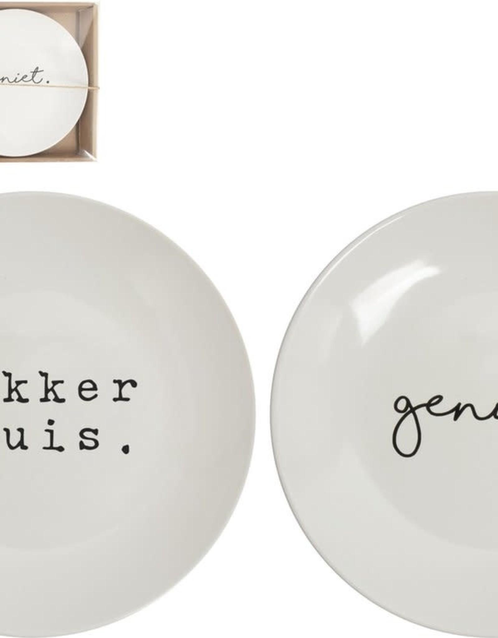 Bord 20cm Geniet/Lekker