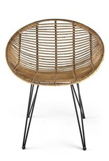 Chair Nature Rattan-Metal H77cm