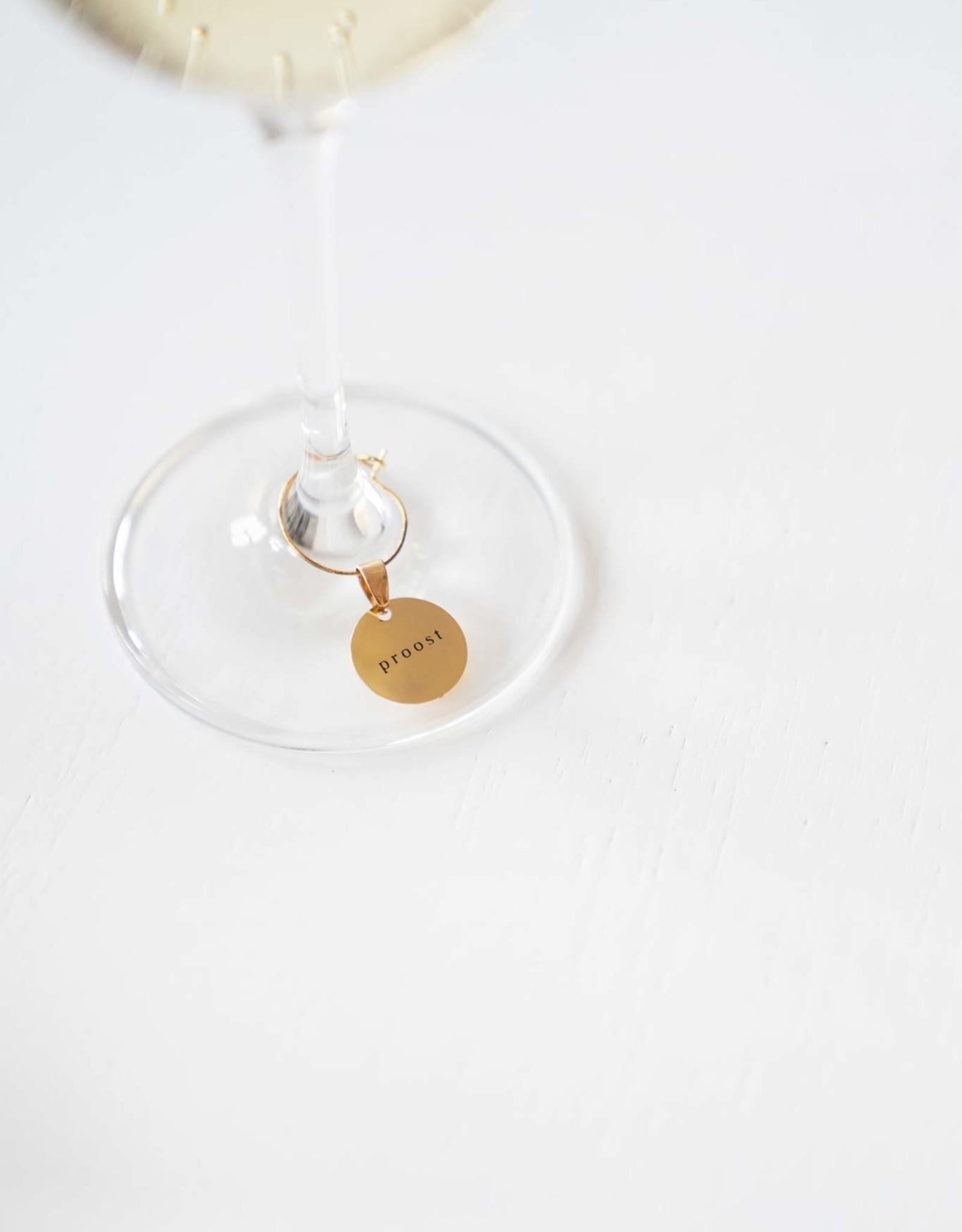 Set wijnglas hangers metaal 6st