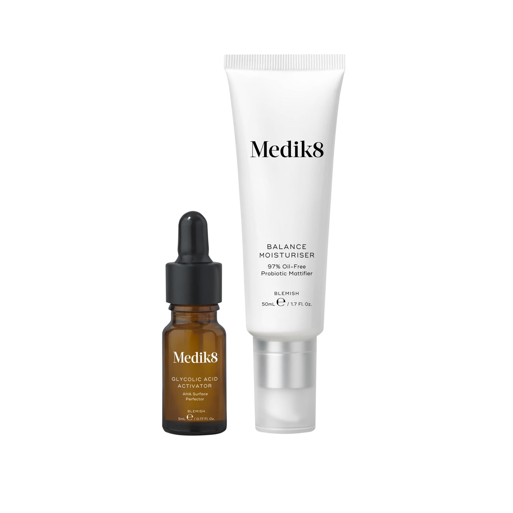 Medik8 Balance Moisturiser & Glycolic Acid Activator | 50ml & 5ml