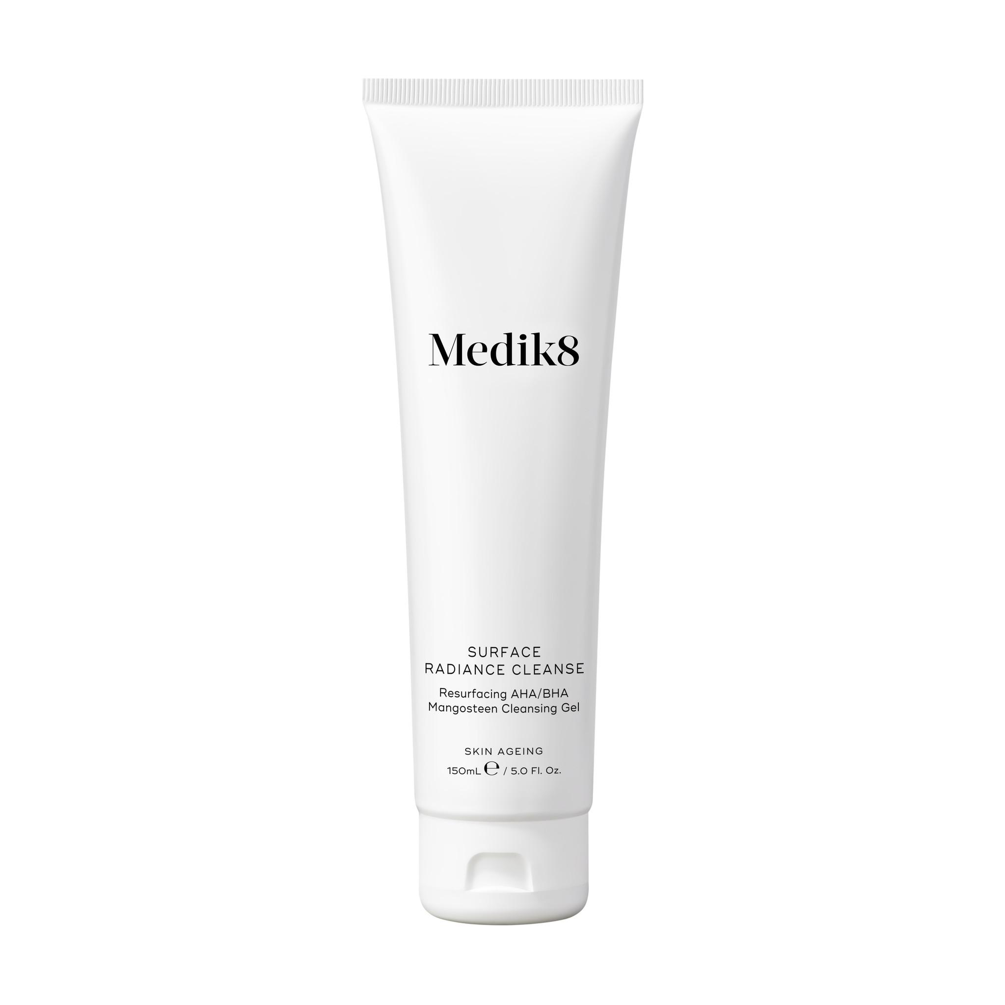 Medik8 Surface Radiance Cleanse | Resurfacing AHA/BHA Mangosteen Cleansing Gel | 150ml