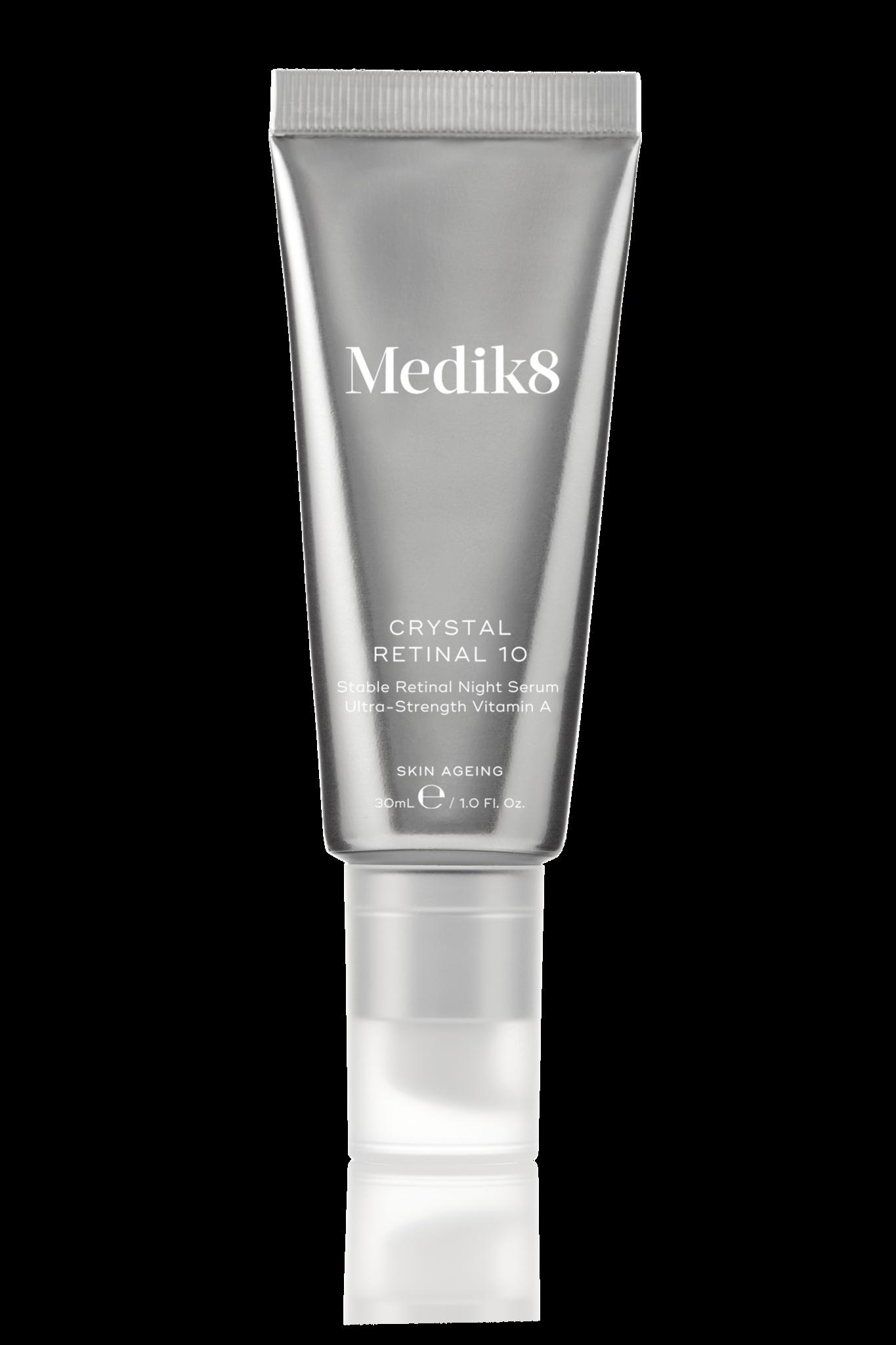 Medik8 Crystal Retinal 10 | Stable Retinal Night Serum Ultra-Strength Vitamin A |30ml