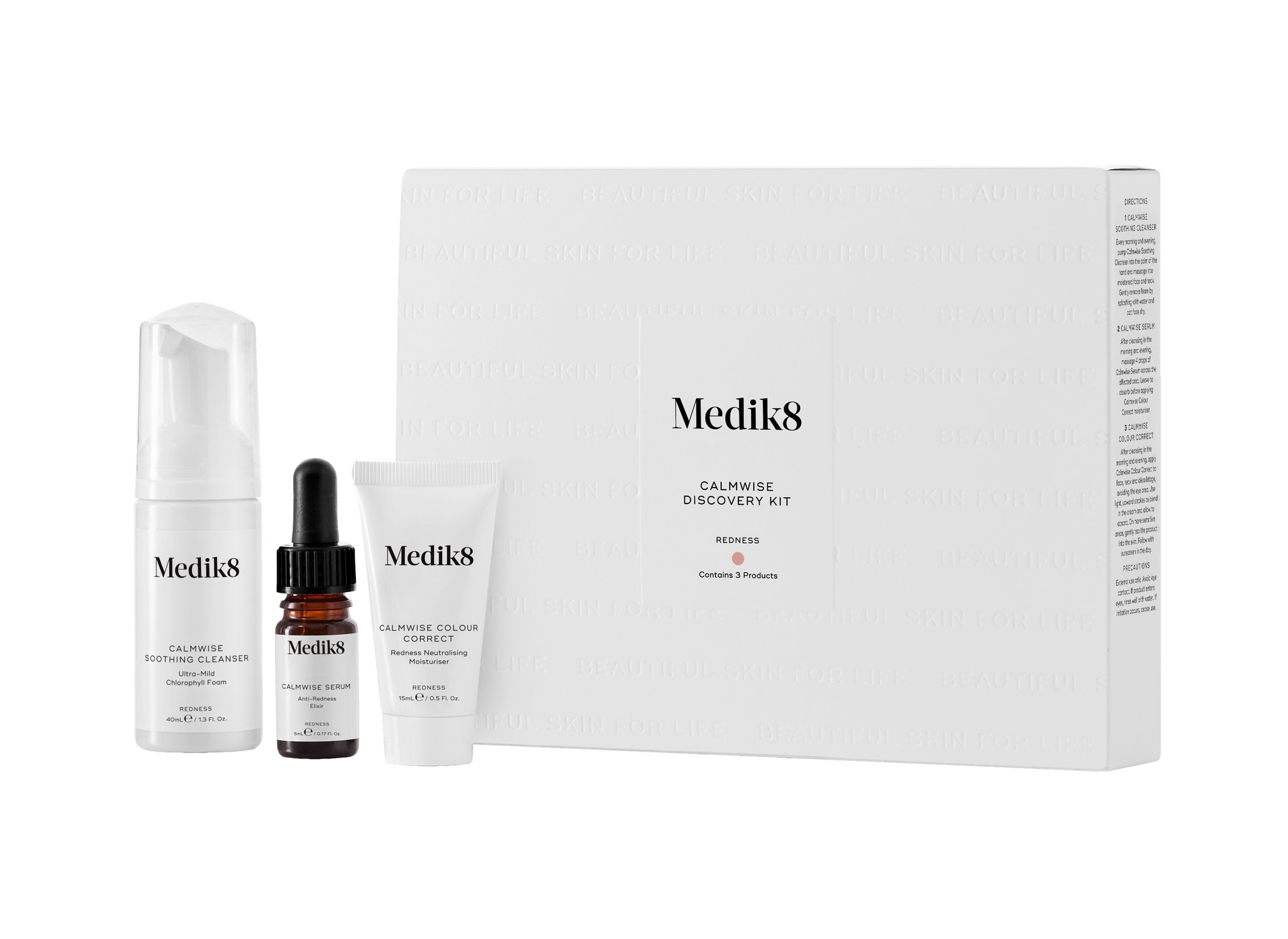 Medik8 Contains 3 products | Calmwise Soothing Cleanser, Calmwise Serum, Calmwise Colour Correct