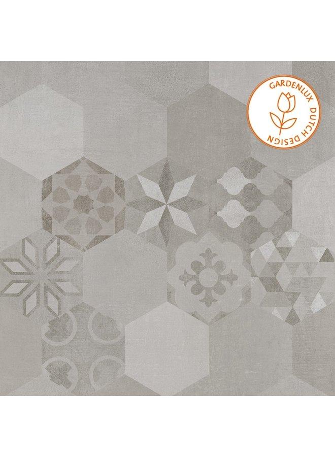Cera3line Lux & Dutch 70x70x3,2 Boston Decor (prijs per tegel)