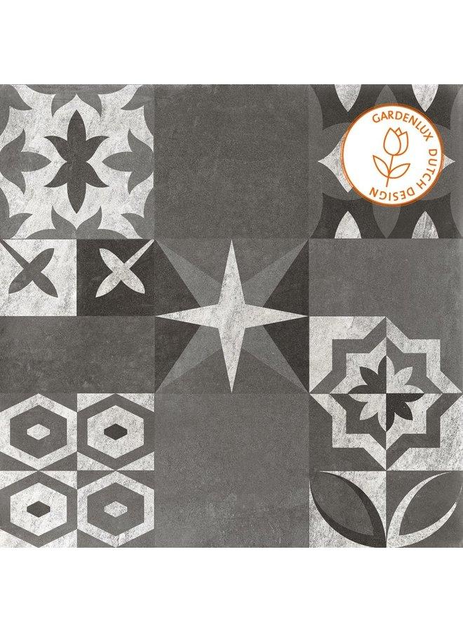 Cera3line Lux & Dutch 70x70x3,2 Seattle Decor (prijs per tegel)