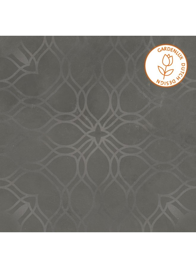 Cera3line Lux & Dutch 90x90x3 Arezzo Decor Dark (prijs per tegel)