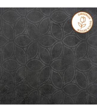 Gardenlux Cera3line Lux & Dutch 60x60x3 Square Decor Antracite