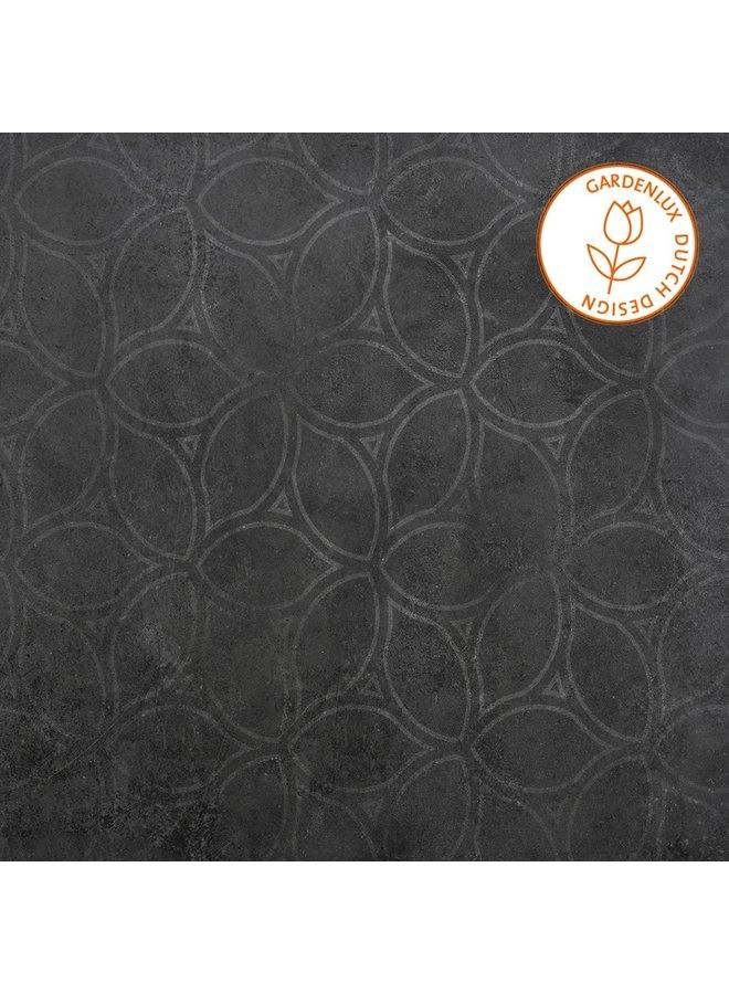 Cera3line Lux & Dutch 60x60x3 Square Decor Antracite (prijs per tegel)