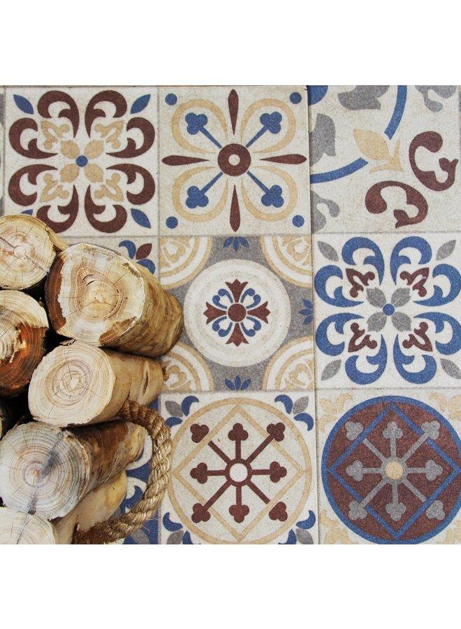 Designo Mosaic Terra 60x60x3 cm (prijs per tegel)