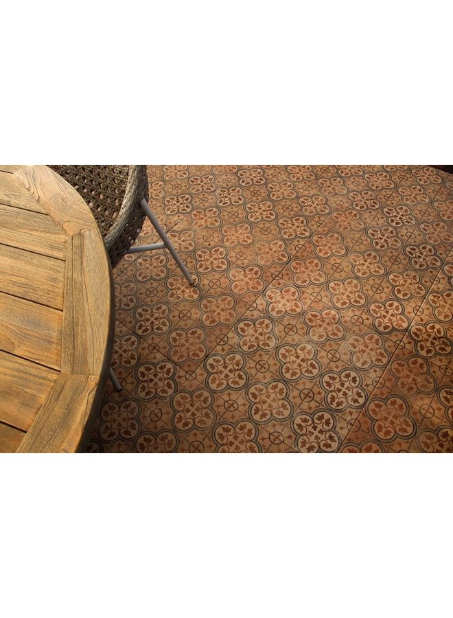 Designo Mosaic Brown 60x60x3 cm (prijs per tegel)