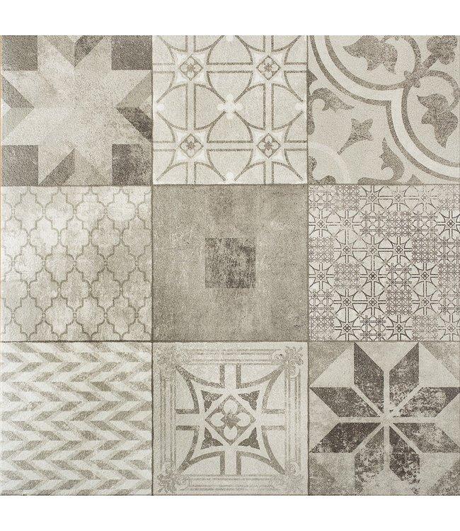 Gardenlux Designo Mosaic Grey 60x60x3 cm (prijs per tegel)
