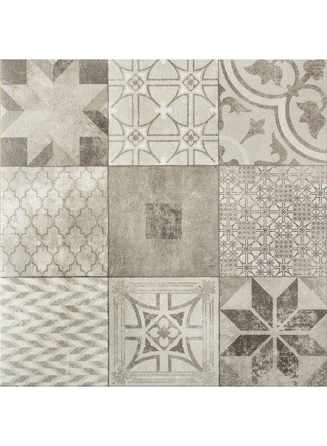 Designo Mosaic Grey 60x60x3 cm (prijs per tegel)